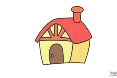 烟囱房子简笔画