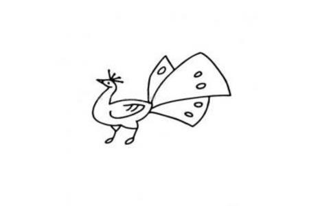 可爱的孔雀简笔画