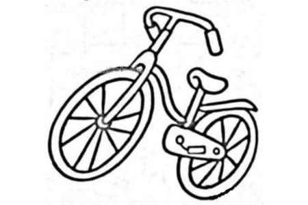 精致的自行车简笔画