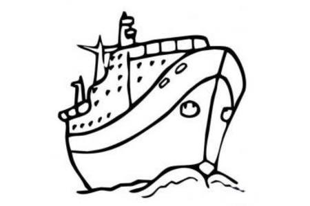 交通工具简笔画大全 轮船简笔画