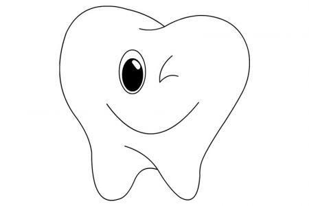3张牙齿卡通表情简笔画图片