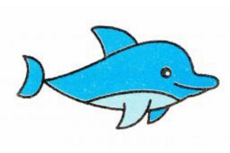海豚简笔画画法