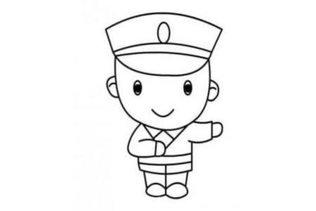 交通警察简笔画