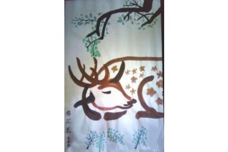 """动物""""梅花鹿""""的简单国画画法"""