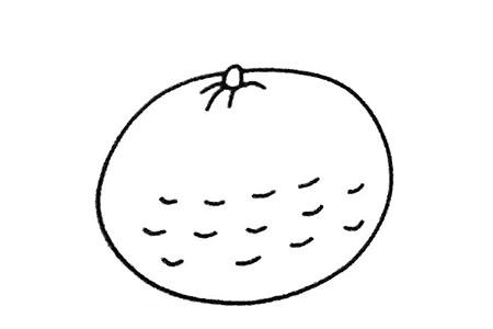 简单四步画橙子