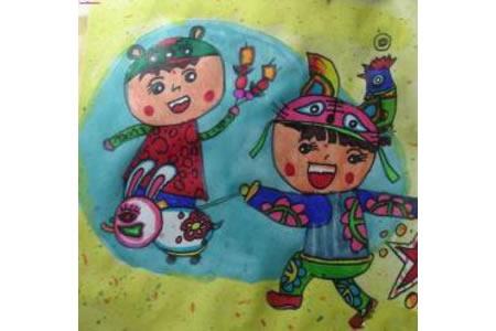 儿童画新年新衣裳