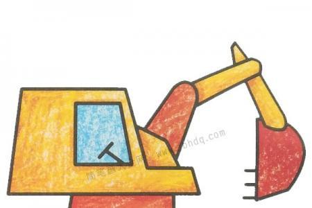 幼儿学画挖掘机2