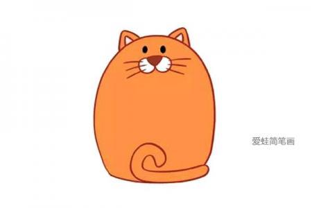 五张可爱的小猫简笔画图片