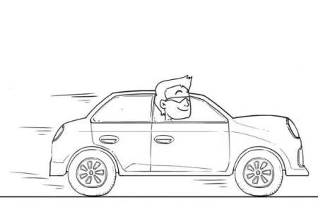 小轿车简笔画图片