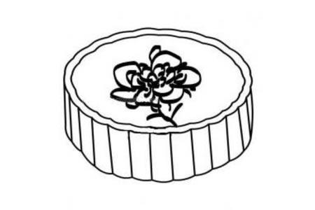 中秋月饼简笔画