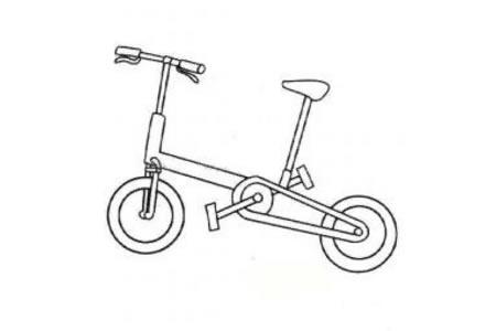 小轮自行车简笔画图片