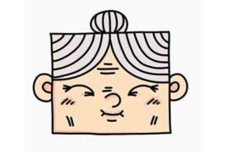 老奶奶的头像简笔画画法