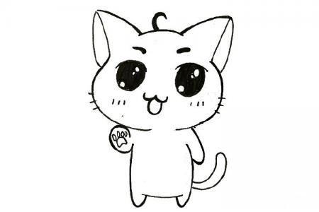 可爱的小萌猫简笔画