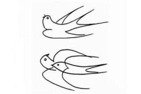 幼儿燕子简笔画图片
