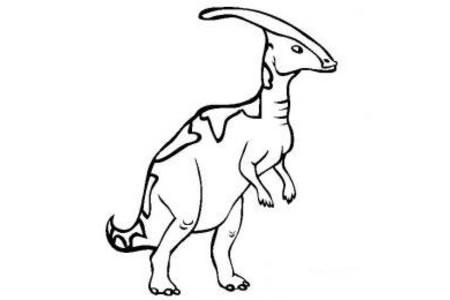 恐龙图片大全 副栉龙简笔画图片