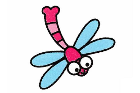 一步一步学画蜻蜓