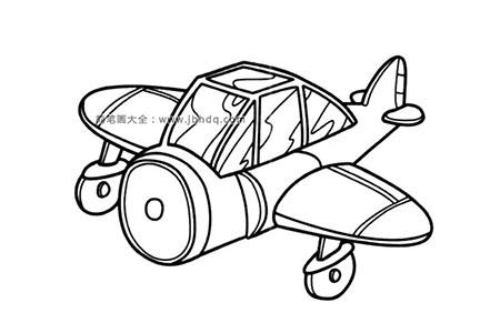 小型飞机简笔画图片