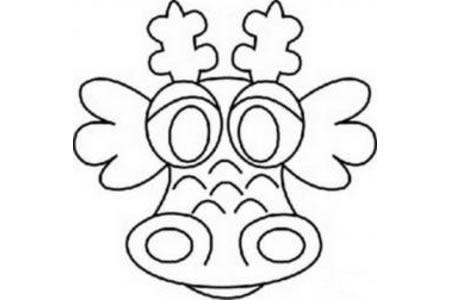 龙王的头像简笔画