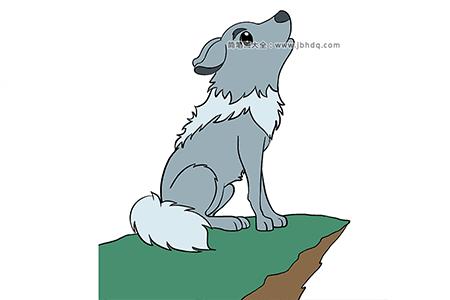 可爱的小狼简笔画