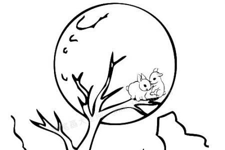 中秋节 月光下的玉兔