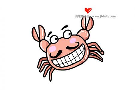 坏笑的卡通螃蟹