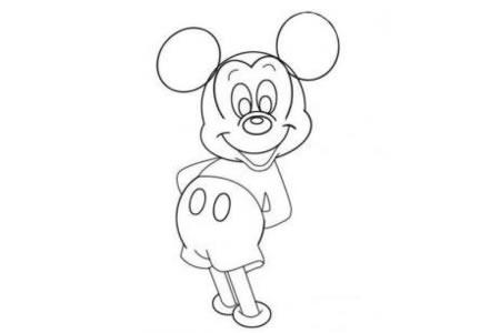 可爱米老鼠简笔画大全