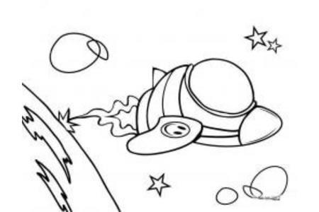 2016航天宇宙飞船简笔画