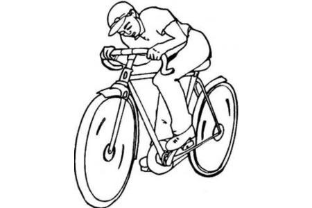 行驶中的自行车简笔画