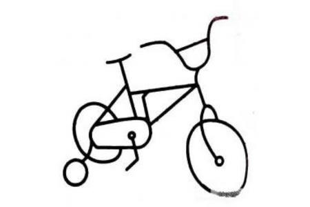 幼儿简笔画 自行车的画法