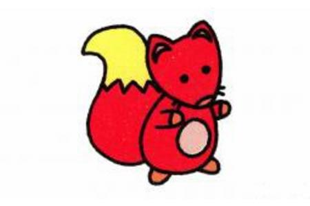 狐狸简笔画画法