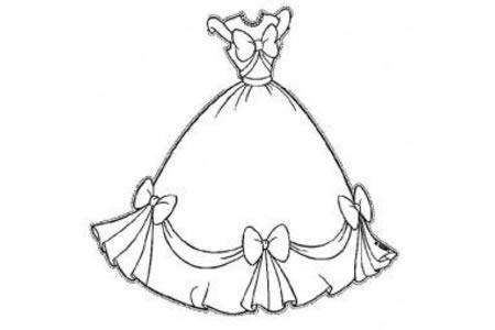 公主礼服简笔画