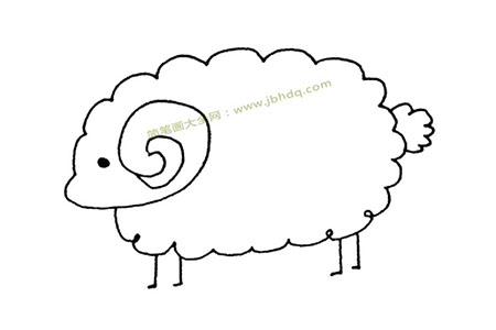 简单的绵羊简笔画图片
