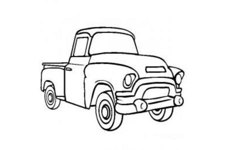 交通工具简笔画 皮卡车简笔画图片