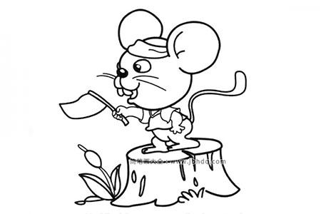 老鼠导游简笔画图片