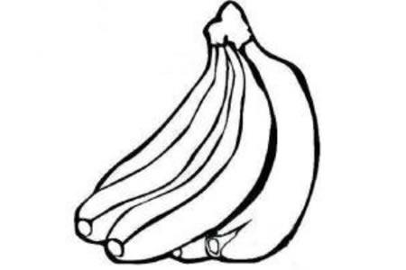 香蕉简笔画图片