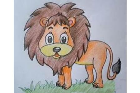教小朋友画一头小狮子