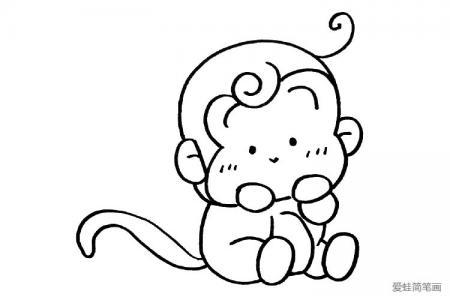 一只萌萌哒小猴子