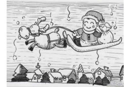 六张圣诞老人简笔画
