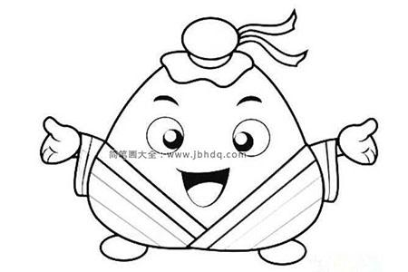 古代装扮的卡通粽子
