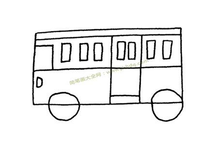 超简单公共汽车简笔画图片