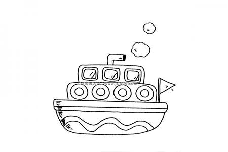 多层小轮船