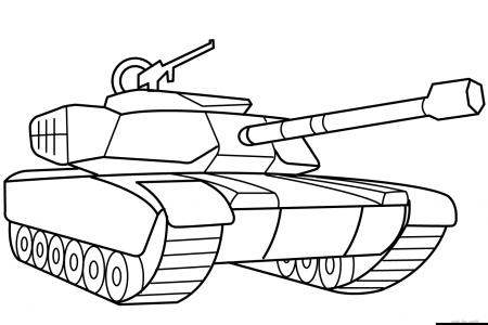 简单易学的坦克简笔画