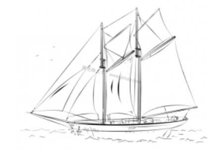 如何画帆船