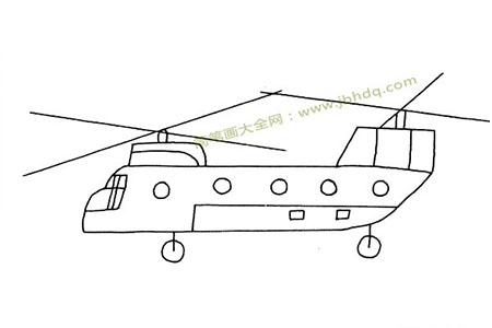 运兵直升机简笔画图片