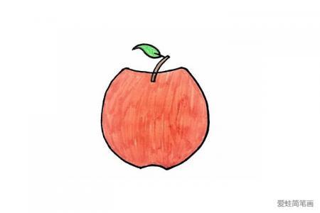 红苹果简笔画怎么画