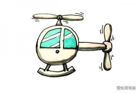 儿童轻松学画直升机