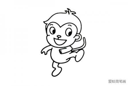 4张可爱的小猴子简笔画图片