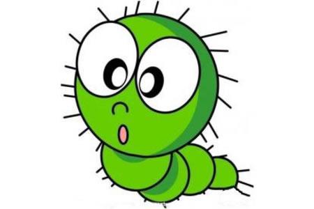 绿色毛毛虫简笔画