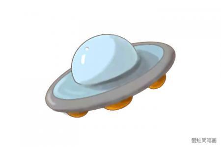 外星飞碟怎么画
