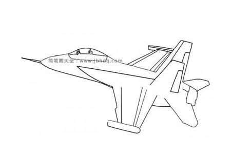 F18战斗飞机简笔画图片